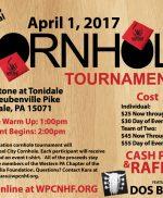 Cornhole Tournament – Saturday, April 1st