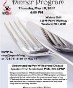 VWD Dinner Program – Walnut Grill