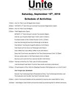 Walk Day Activities Schedule